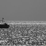 Going for fishing, just before dusk. Clifton, Karachi.