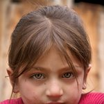 Kalashi girl in Bomborit, Kalash