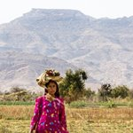 Lady at Kirthar National Park Karchat