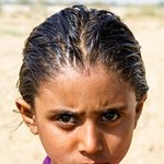 Girl at Kirthar National Park Karchat
