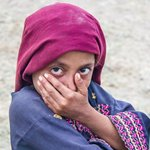 Shy Girl in Mirpur Sakro.